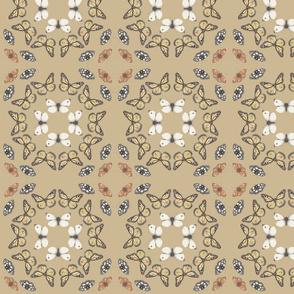 butterfly kaleidoscope in brown