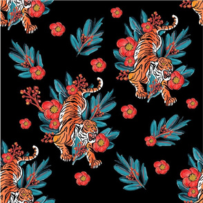 Tigers & Red Blossoms