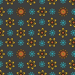 Marigold Madness Indian Floral Pattern