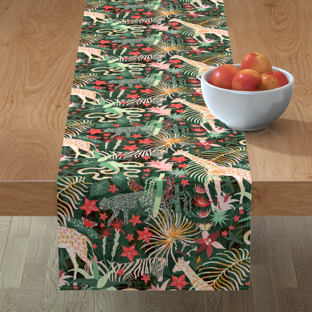 Minorca Table Runner featuring Jungle Maximalism by what's_in_hollye's_head