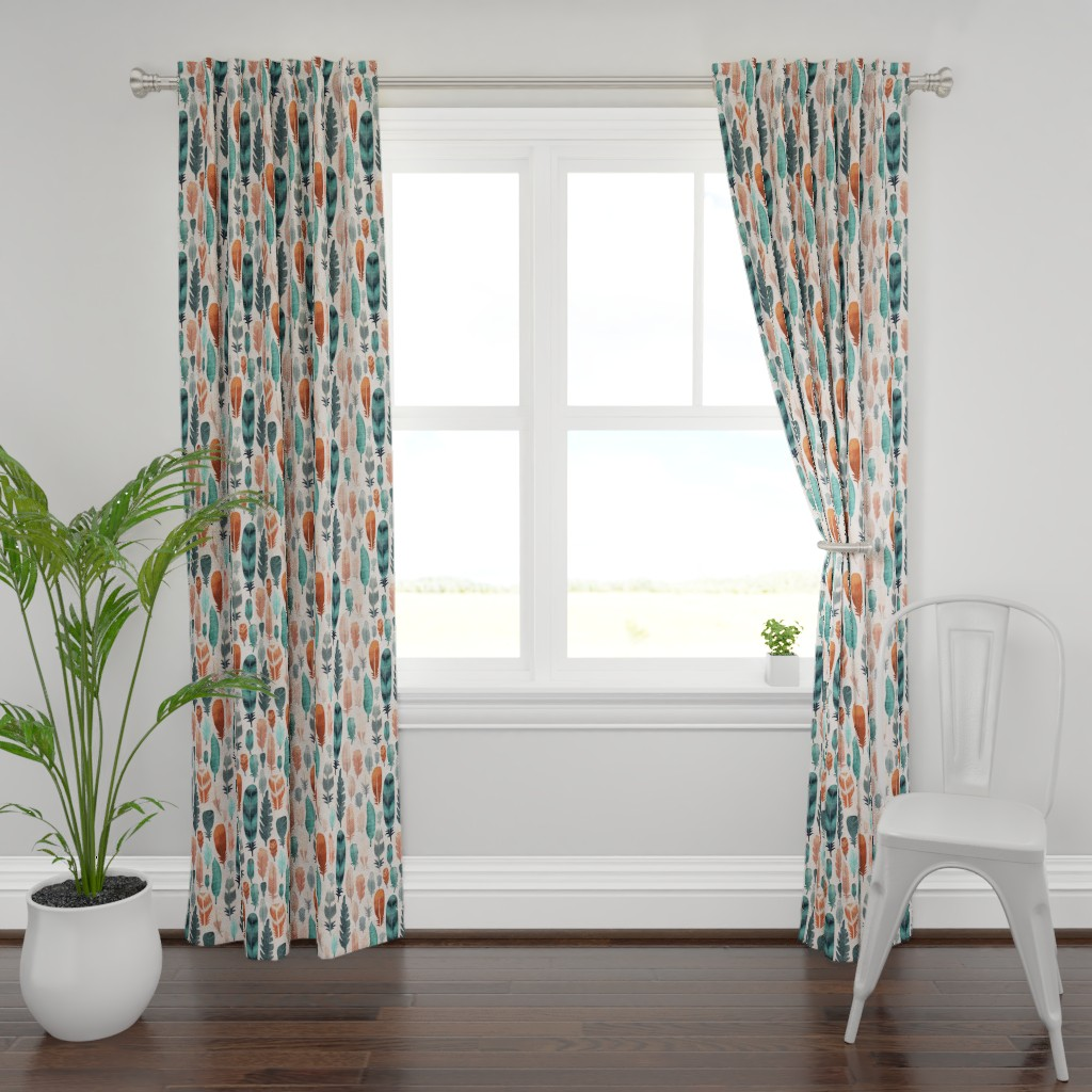 Plymouth Curtain Panel featuring Kiskadee by bridgettstahlman