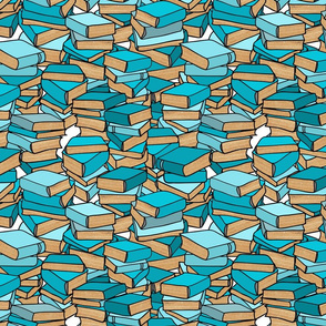 Book Collection in Turquoise
