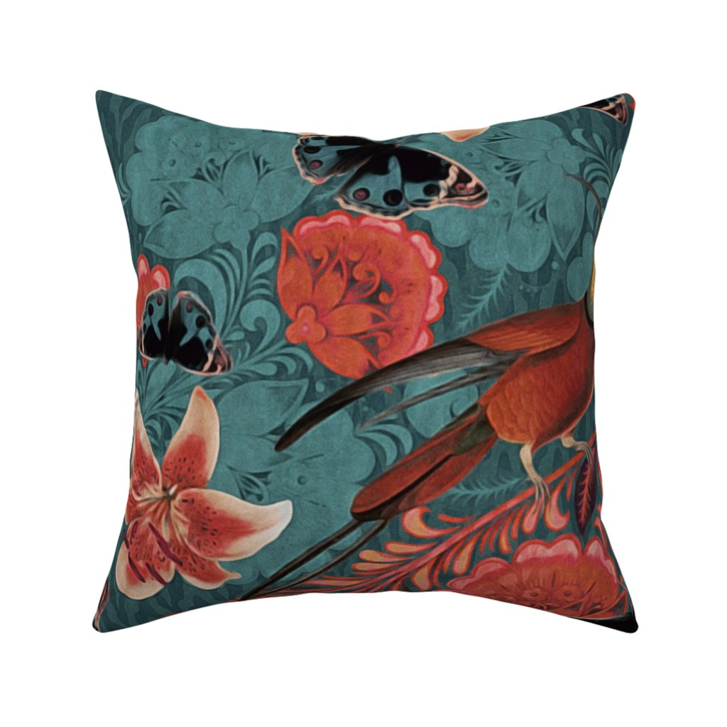 Catalan Throw Pillow featuring maximalist elegance by dessineo