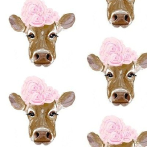 A Shabby Chic Cow