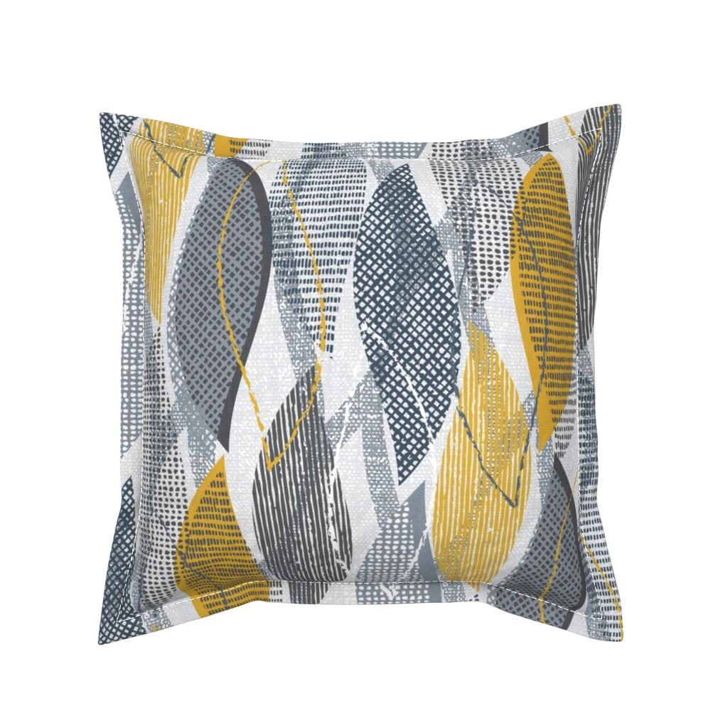 Serama Throw Pillow featuring maxtex (mustard) by fleabat
