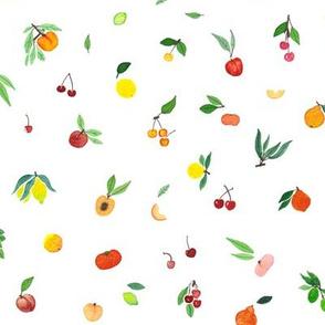 Tiny Fruits on white