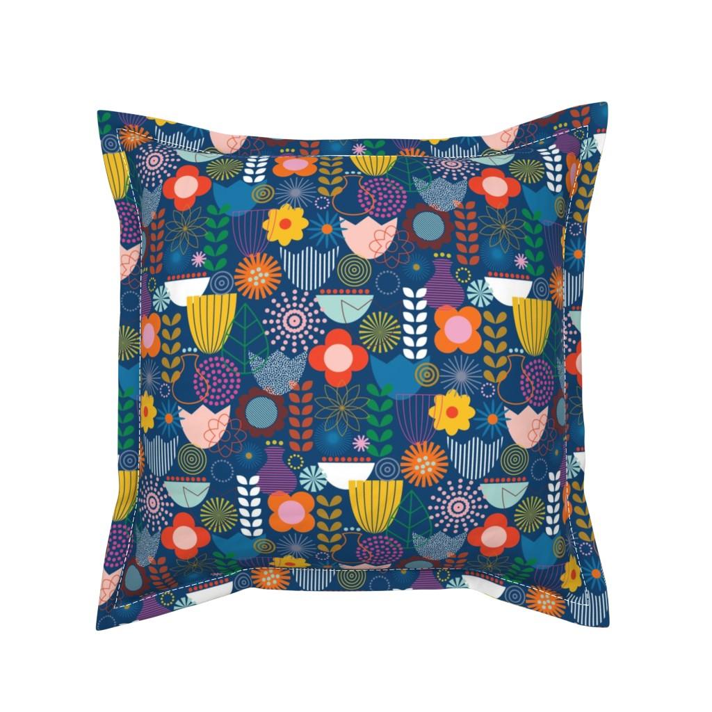 Serama Throw Pillow featuring Maximum Scandi by katerhees