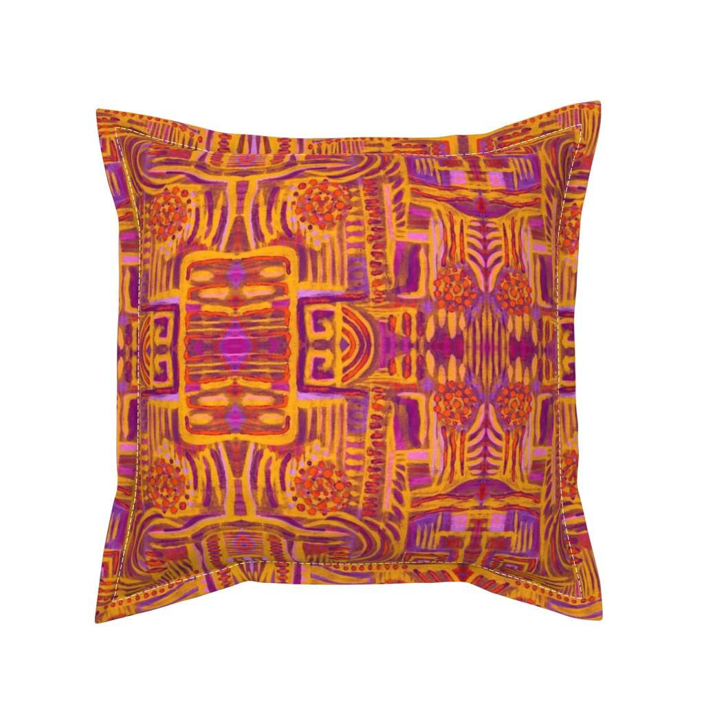 Serama Throw Pillow featuring Abstract Maximalism by dunnspun