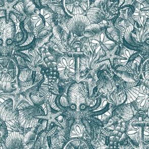 Nautical sketch - blue