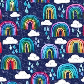 Watercolor Rainbows - XXLarge