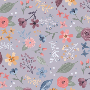 Meadow Blooms Gray
