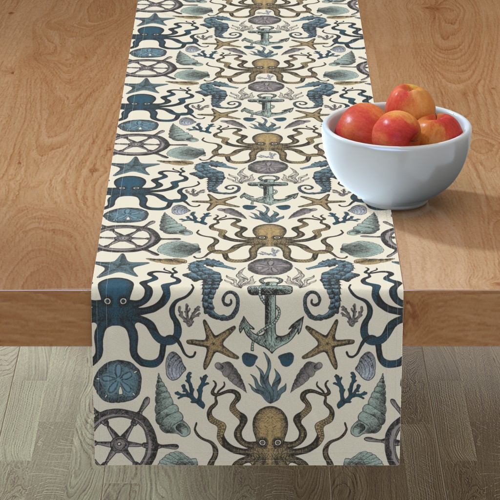 Minorca Table Runner featuring Sea ya later - multi color by diseminger