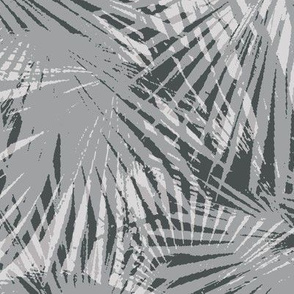 monochrome palm leaves camouflage