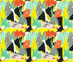 Hawaiian tropical bird collage