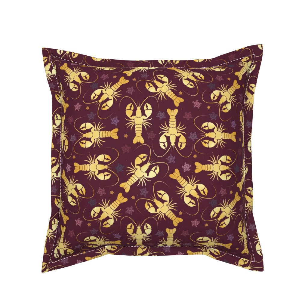 Serama Throw Pillow featuring lobster love by colorofmagic