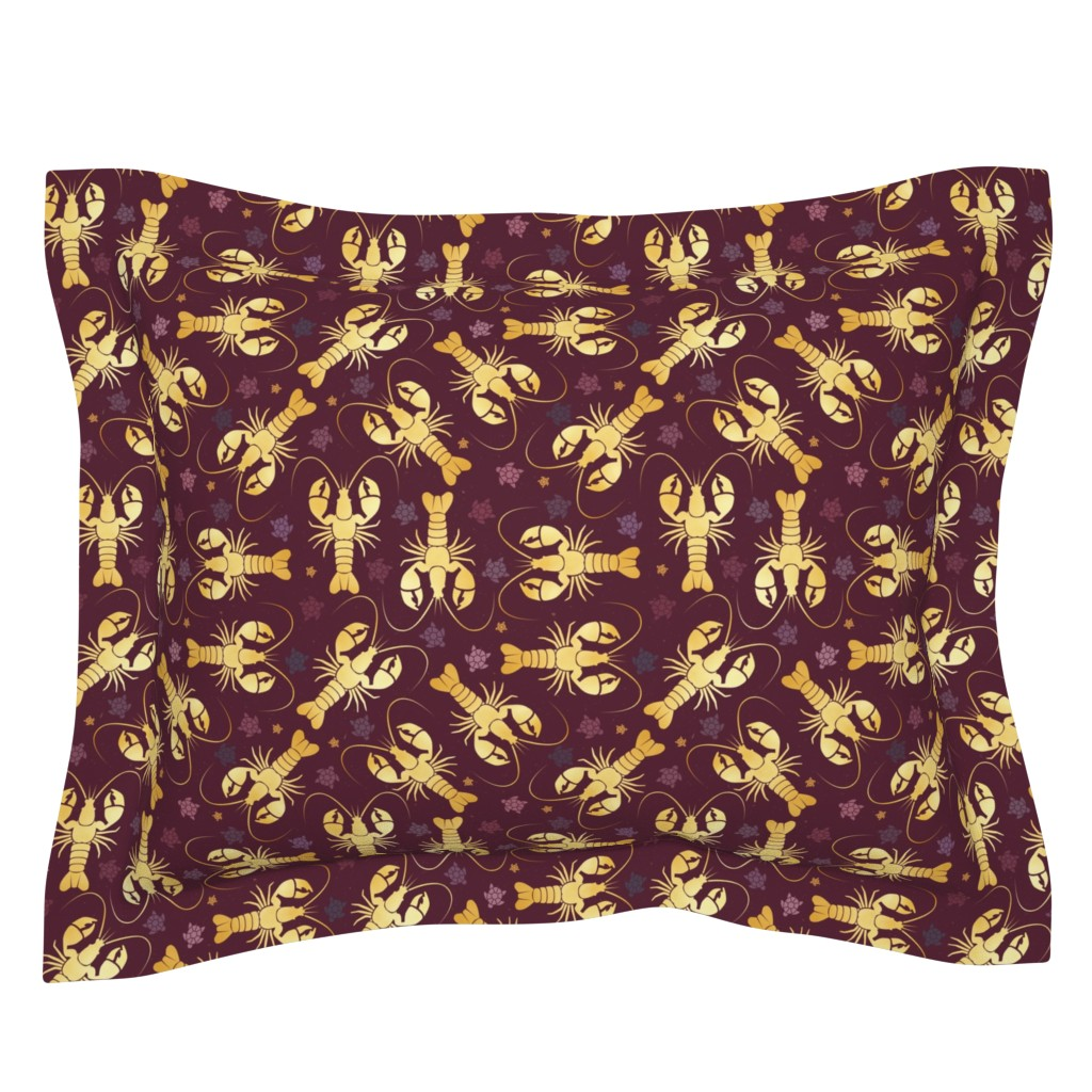 Sebright Pillow Sham featuring lobster love by colorofmagic