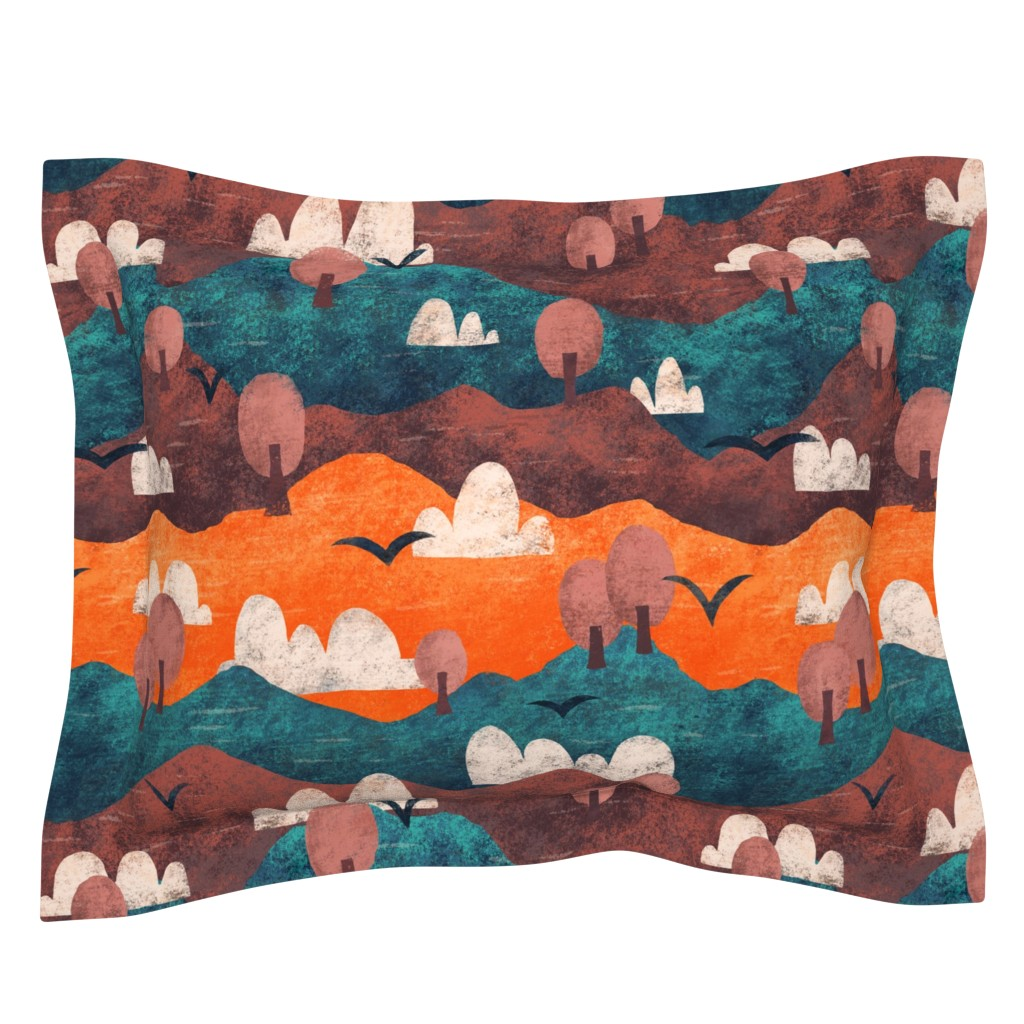 Sebright Pillow Sham featuring Cut Paper Forest by arthousewife