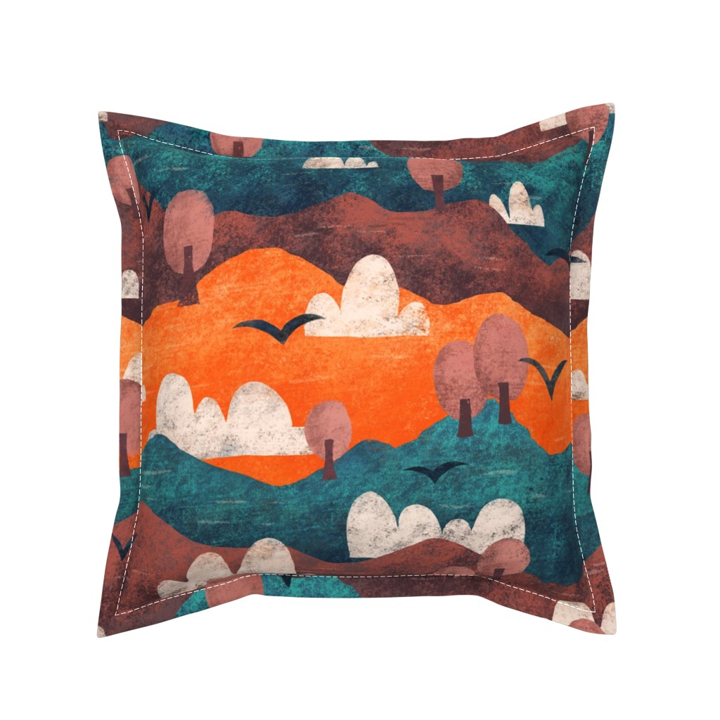 Serama Throw Pillow featuring Cut Paper Forest by arthousewife