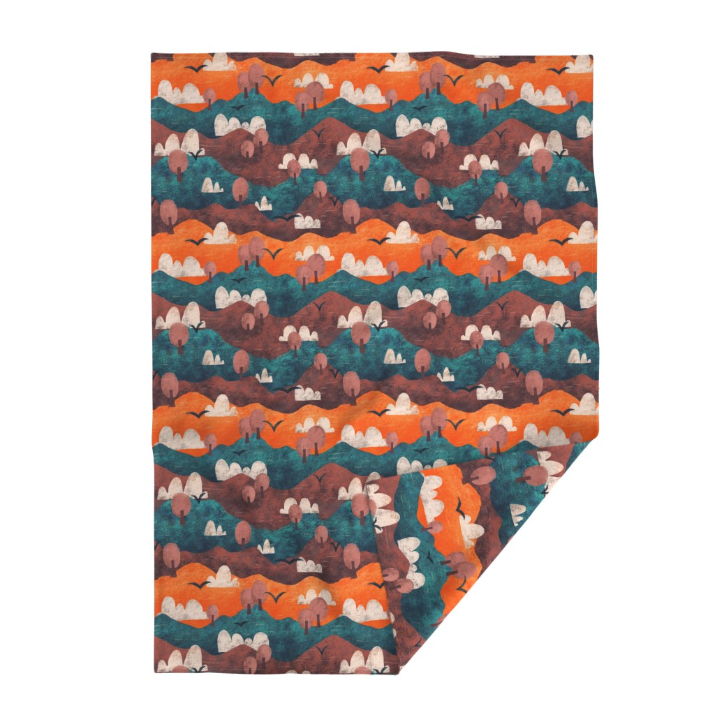 Lakenvelder Throw Blanket featuring Cut Paper Forest by arthousewife