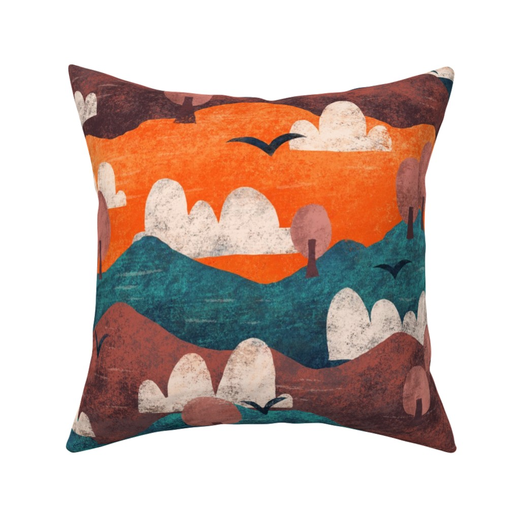Catalan Throw Pillow featuring Cut Paper Forest by arthousewife