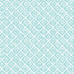 woven Diamonds - Turquoise