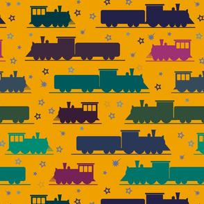 colorful trains by rysunki_malunki