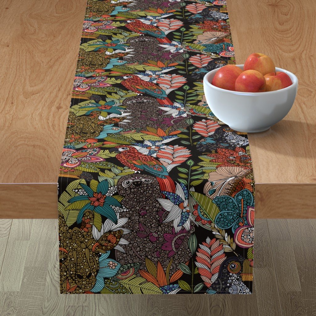 Minorca Table Runner featuring The jungle by valentinaharper