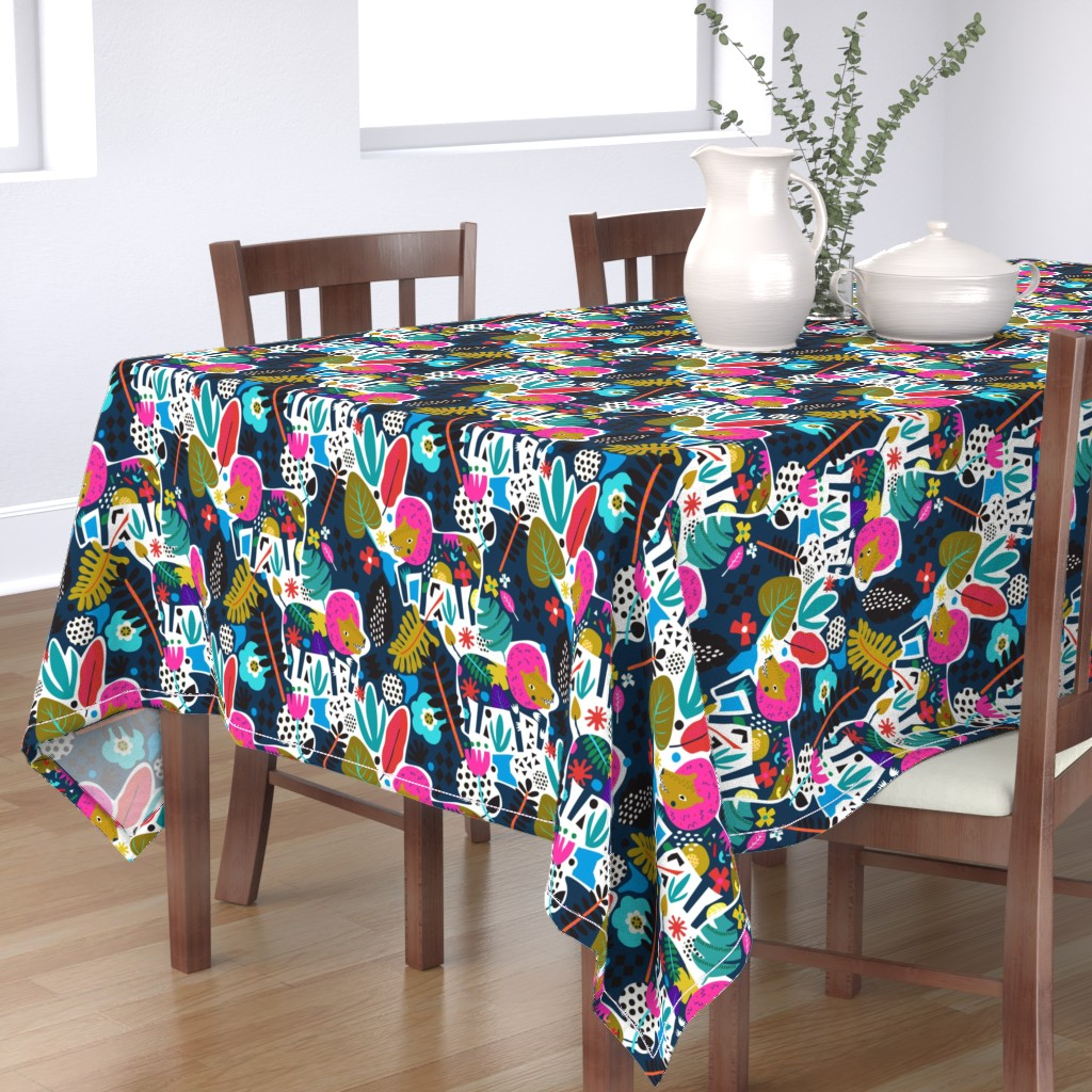 Bantam Rectangular Tablecloth featuring King of the maximals by rosalindmaroneyillustration