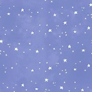 white stars purple