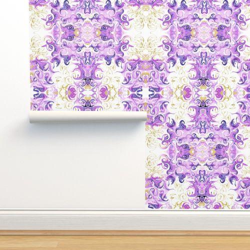 19 05u Abstract Marble Purple Lavender Spoonflower