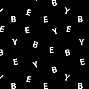 Sweet BYE BYE minimal goodbye text design abstract typography print with expressions from the heart monochrome black and white