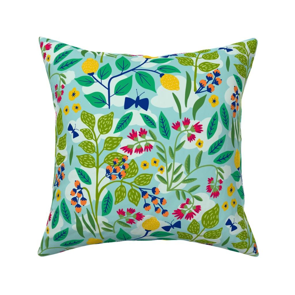 Catalan Throw Pillow featuring Color Garden by jacquelinehurd