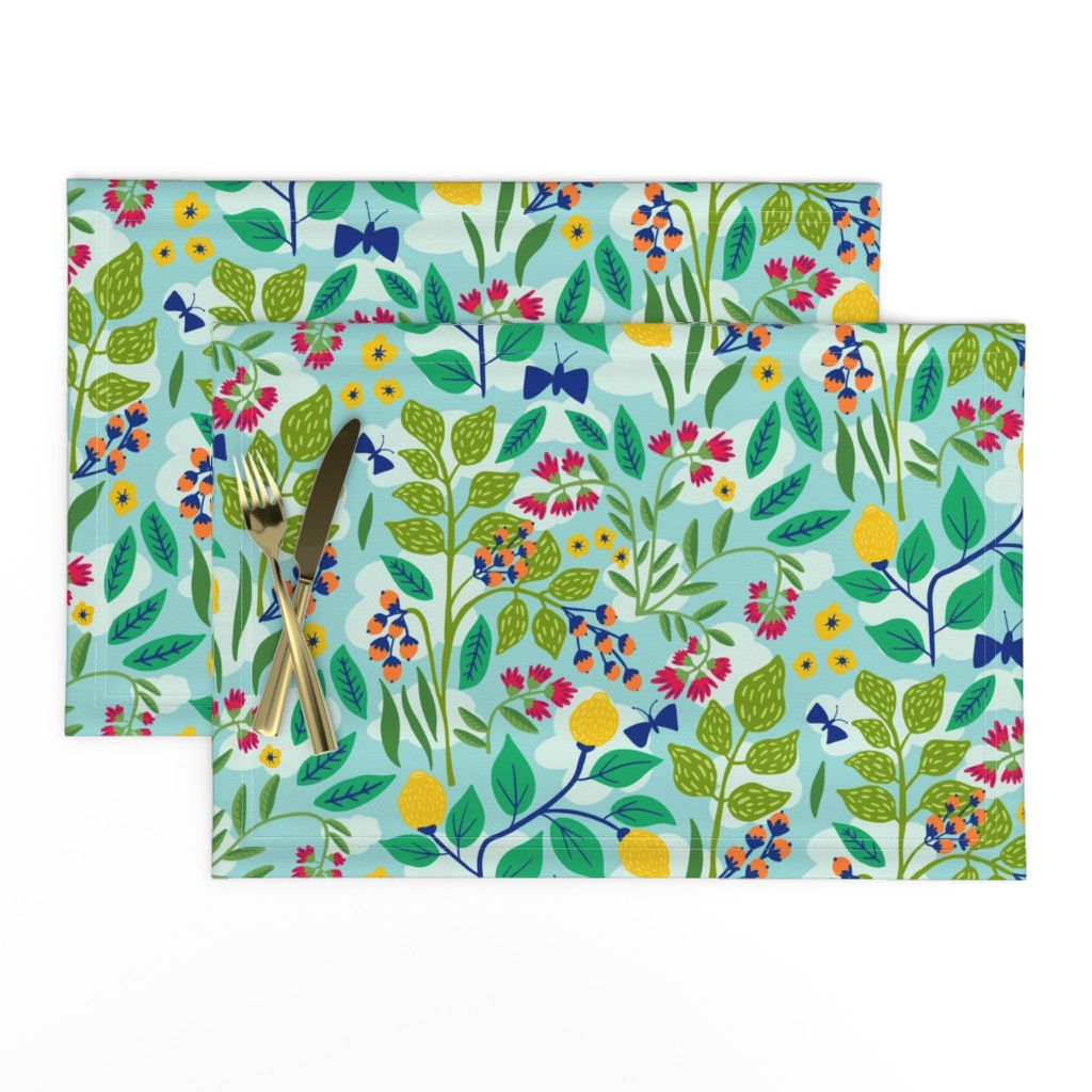 Lamona Cloth Placemats featuring Color Garden by jacquelinehurd