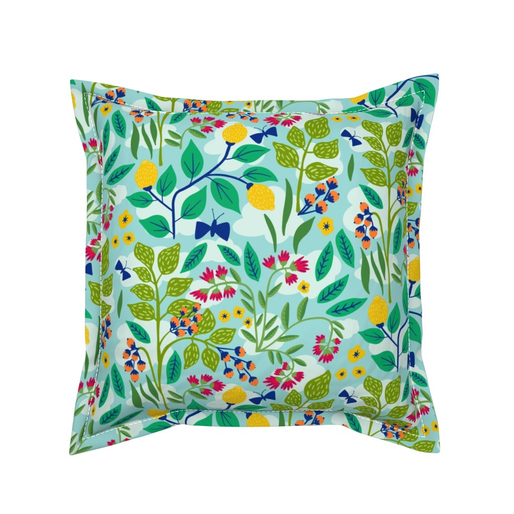 Serama Throw Pillow featuring Color Garden by jacquelinehurd