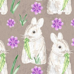 19-05Q Easter Bunny Taupe Texture