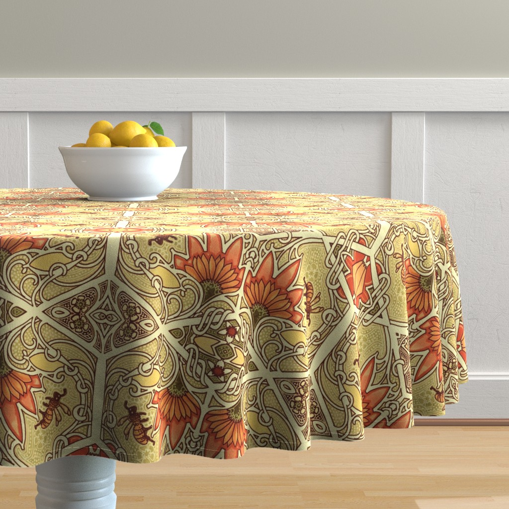 Malay Round Tablecloth featuring For My Honey by edsel2084