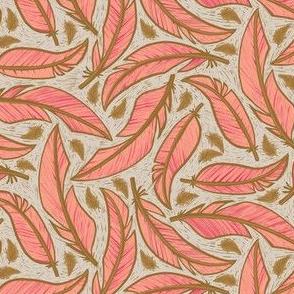Floating Flamingo Feathers