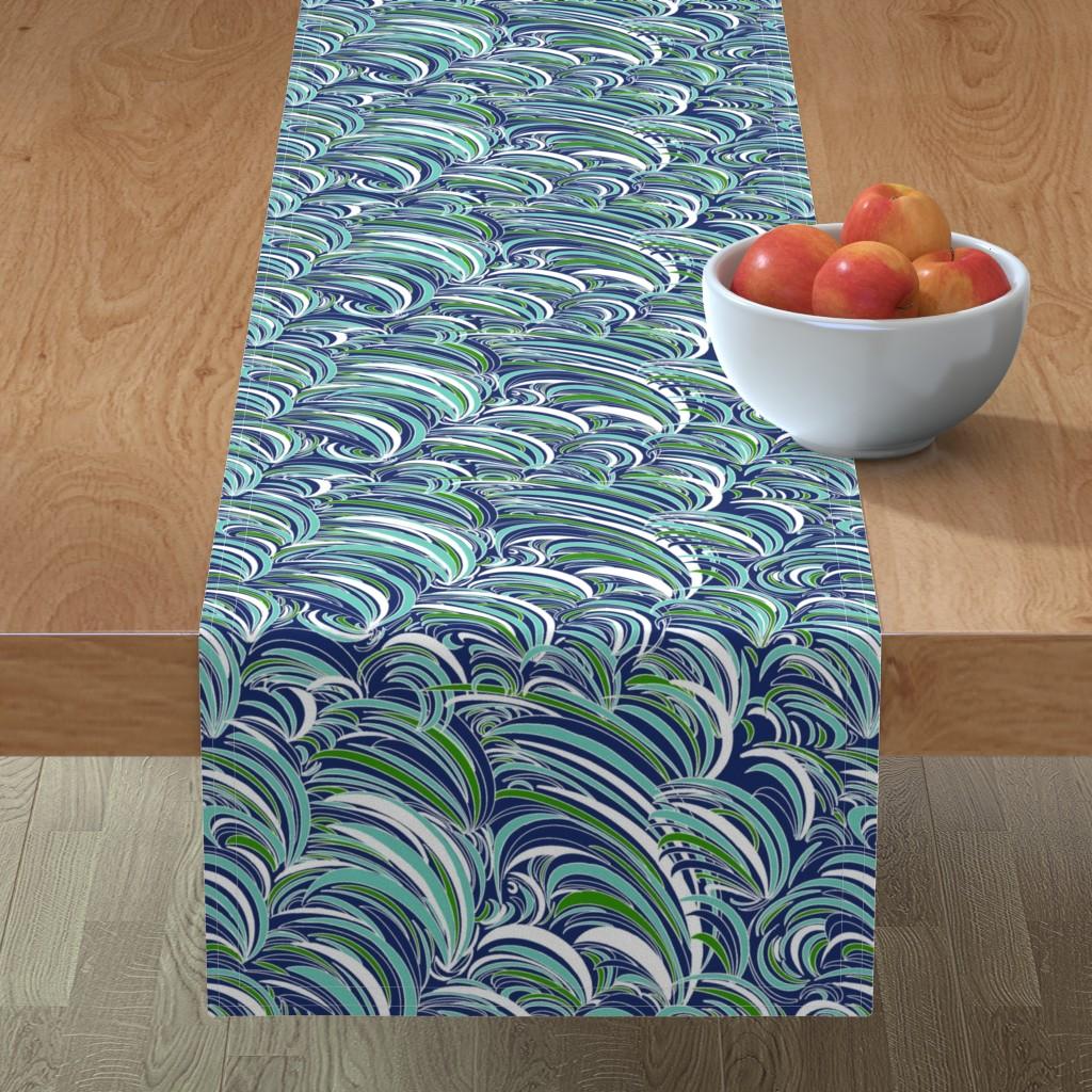 Minorca Table Runner featuring Waves by stasiajahadi