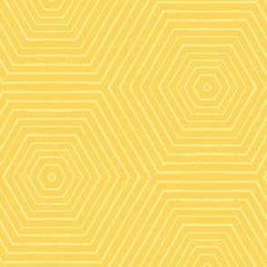 Concentric Hexagons M+M Yolk by Friztin