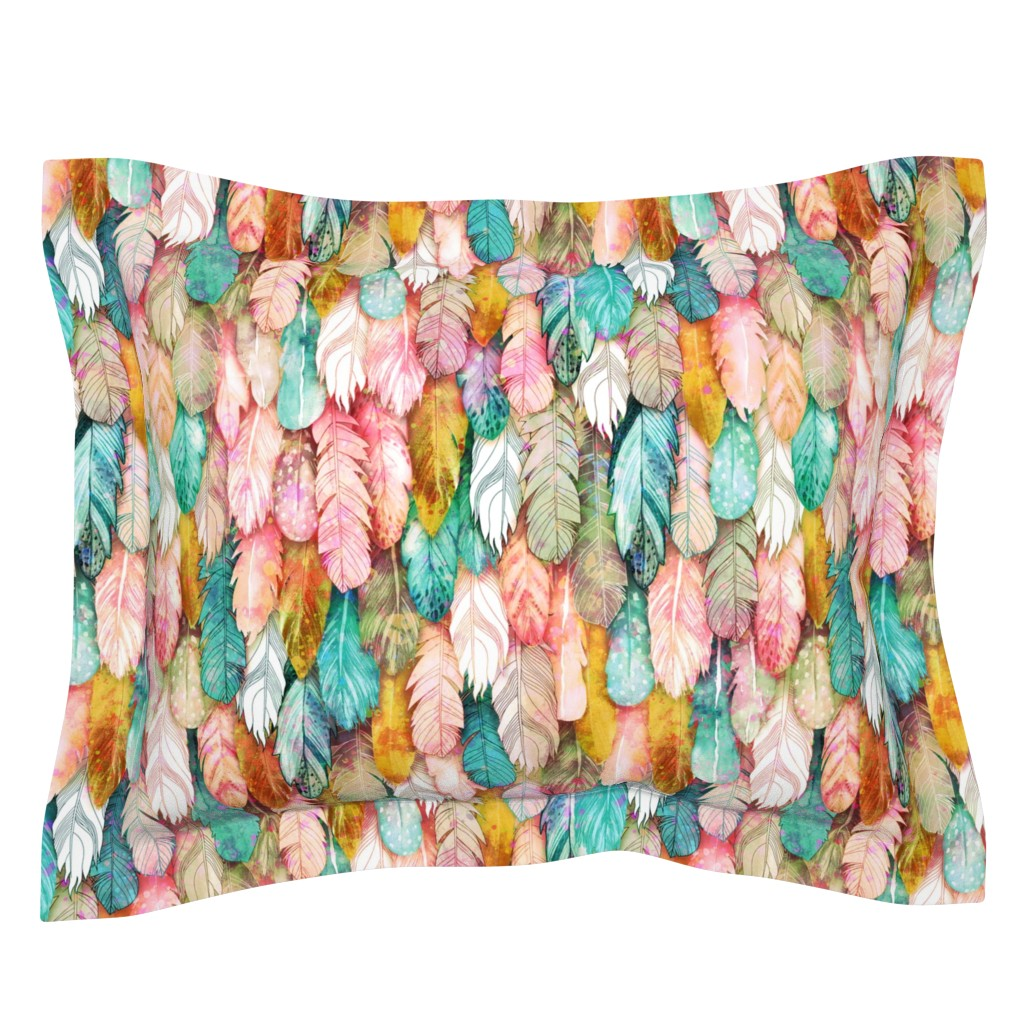 Sebright Pillow Sham featuring Flight of Feathers Painted by xoxotique
