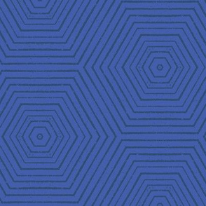 Concentric Hexagons M+M Cobalt by Friztin