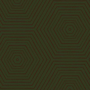 Concentric Hexagons M+M Forest by Friztin