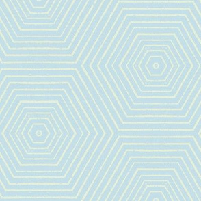 Concentric Hexagons M+M H2O by Friztin