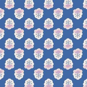 India Print in Dusty Blue