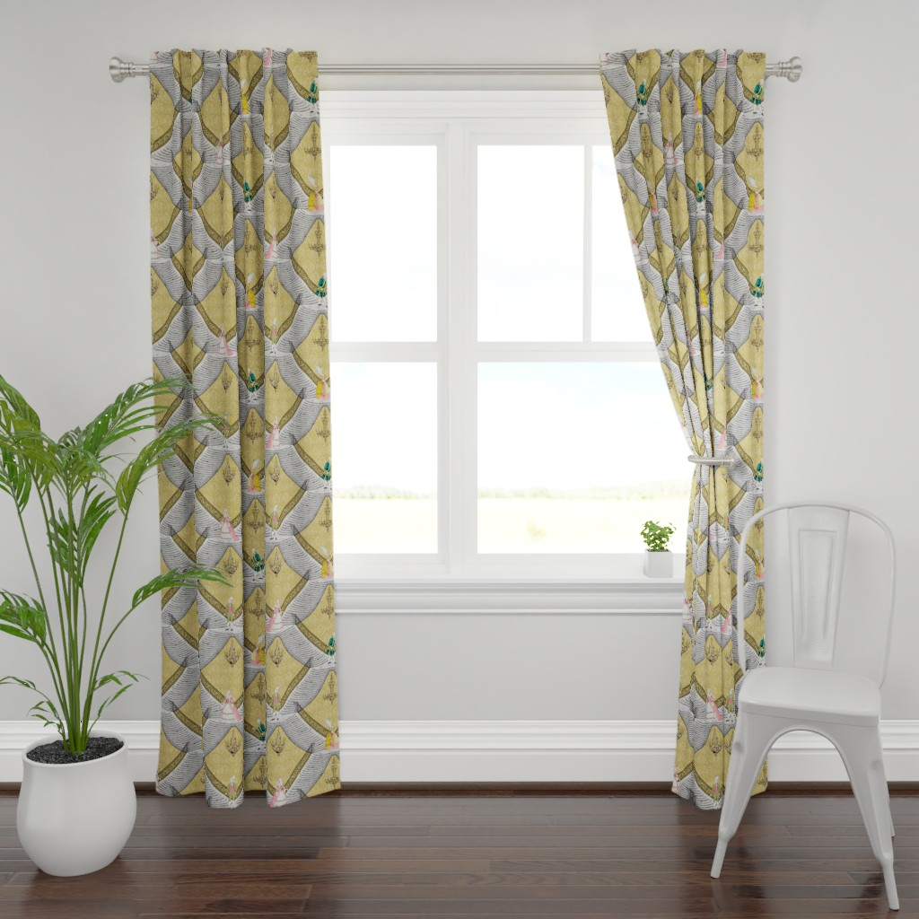 Plymouth Curtain Panel featuring Oh Rococo ! by whatever-works