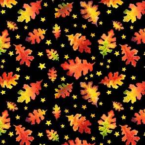 Autumn Nights Leaf Pattern