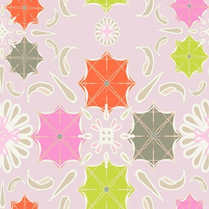 Umbertalla splash pastel pink_orange