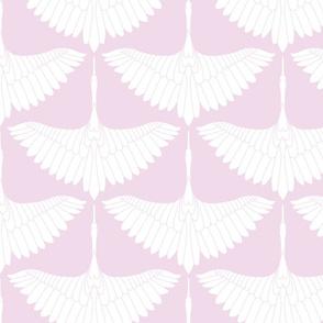 Swan Song // White on Lavender
