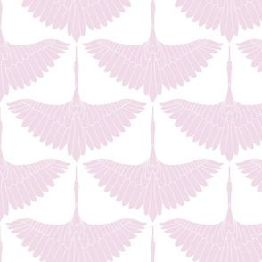 Swan Song // Lavender on White