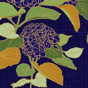 Blue Violet Hydrangea-  large scale